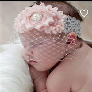 Other - Vintage Pink & Lace Birdcage Headband